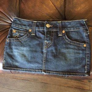 True Religion Dark Denim mini skirt